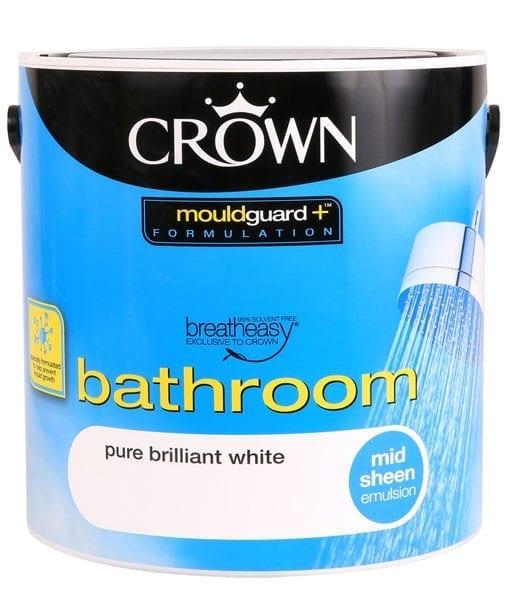 Crown Bathroom Paint Pure Brilliant White Wilson S Paint S
